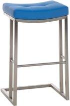 Clp Barkruk NEPAL E78 barstoel - cantilever RVS tafelkruk, kunstleer - blauw