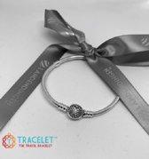 Bedelarmband Zilver met hart sluiting | Armband | Reizen | Bedels charms Beads | 925 Sterling Silver | Geschikt voor Pandora | Tracelet | 17 cm