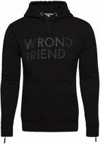 Wrong Friends London Hoodie Black/Black