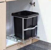 Haushalt 39030 Uitschuifbare keukenkast prullenbak - 14 Liter - Uitneembaar