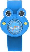 Kinderhorloge - Siliconen -  Kikker - 20mm- Blauw