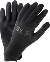 Handschoenen PU zwart maat 7 (M)