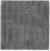 California - Badmat met antislip - Anthracite - 60 x 60 cm
