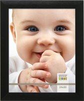 Deknudt Frames S023S2 Brede zwarte fotolijst in aluminum voor fotomaat 18x24 cm