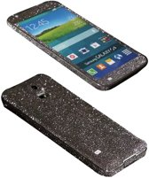 Xssive Glitter Sticker voor Samsung Galaxy S5 G900 of S5 Neo G903 Grijs Duo Pack - 2 stuks