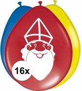 Sinterklaas ballonnen - 16 stuks - Sint en Piet versiering