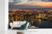 Fotobehang vinyl - Het stadslandschap van Jersey City in de Verenigde staten breedte 450 cm x hoogte 300 cm - Foto print op behang (in 7 formaten beschikbaar)