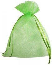 Organza zakjes, 7,5 x 10 cm, 10 stuks groen