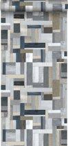 ESTAhome behang sloophout grijs - 138516 - 53 x 1005 cm