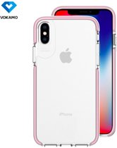 Smult Crystal Clear Drop Protection Case voor Apple iPhone X / XS (5.8 inch) -Transparant/Pink