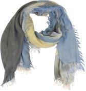 Sjaal Blauw Landschap 90 x 180 cm
