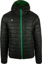 Robey Player Jacket - Voetbaljas - Black/Green - Maat L