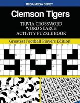 Clemson Tigers Trivia Crossword Word Search Activity Puzzle Book