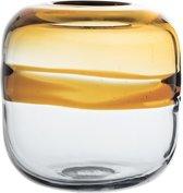 Bloomingville - Vaas - Glas - Oker/Naturel - D16xH16,5 cm