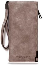 Portemonnee/Clutch Taupe | Charm Fashion | Kunstleer - 20 x 10 x 3,2 cm