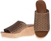 La Femme Plus -  sandalen - maat 40 - dames - bruin - suede
