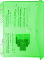 EXXO-HFP #35036 - A5 Ringband Documententas - Groen - 120 stuks (12 pakken @ 10 stuks)