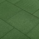 vidaXL Valtegels 6 st 50x50x3 cm rubber groen