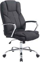 Clp XXL bureaustoel  managerstoel BIG XANTHOS diretiestoel - zware belasting (tot 210 kg), ergonomisch, stoffen bekleding - Zwart