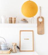LEDR® Oldschool Letterbord 30 x 45 Wit – Inclusief 200 letters, symbolen & emoticons – Inclusief verstelbaar standaard - Eiken houten frame
