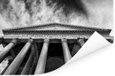 Pantheon in Rome zwart-wit vanaf onderen Poster 180x120 cm - Foto print op Poster (wanddecoratie woonkamer / slaapkamer) / Europese steden Poster XXL / Groot formaat!