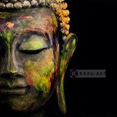 Schilderij - Boeddha, Print op canvas
