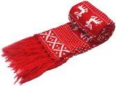 Kerst sjaal Rood & wit - 160 x 17cm