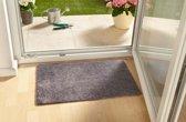 Modern effen deurmat Clean & Go - grijs 50x150 cm