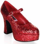 Rode dames glitter schoenen 41