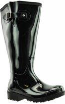 Regenlaars zwart WIDE WELLIES Kuitomvang 50 cm cm XXL maat 42