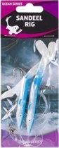 Raven Sandeel Rig Blue/White 2 Haaks | Onderlijn |  4/0