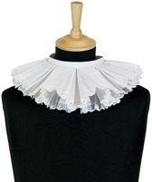 Luxe zwarte roetveeg Pieten kraag wit geborduurd