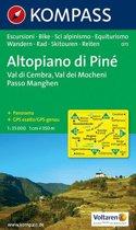 Kompass WK075 Altopiano di Piné, Val di Cembra, Val dei Mocheni, Passo Manghen