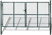 Tuinpoort modern hekwerk 300 x 175 cm (donkergroen)