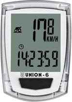 Union fietscomputer 6F - Bedraad - Kilometerteller