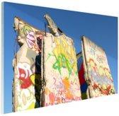 Stukken van de Berlijnse muur Glas 60x40 cm - Foto print op Glas (Plexiglas wanddecoratie)