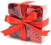 Zeep Bloemen - Rode rozen set van 9
