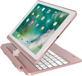 iPad 2018/Pro 9.7/2017/Air 2/Air 1 Toetsenbord hoesje - CaseBoutique Keyboard Case - Rosé Goud - QWERTY Indeling