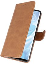 Huawei P30 Pro Bruin | bookstyle / book case/ wallet case Wallet Case Hoesje  | WN™