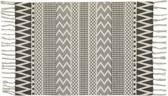 Mat zwart/wit - katoen - Scandinavische stijl - 90x60 cm
