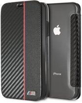 BMW Book Case Zwart - M Sport Carbon - TPU - iPhone XR  - Met pashouder