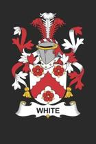 White: White Coat of Arms and Family Crest Notebook Journal (6 x 9 - 100 pages)