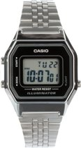Casio Retro Digital LA680WEA-1EF horloge - Zilver - 28,6 mm