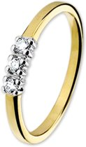 The Jewelry Collection Ring Diamant 0.09 Ct. - Bicolor Goud