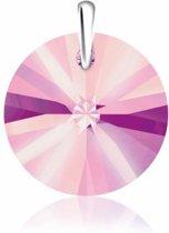 SH46 Bibiza Collier met Swarovski hanger Rond Antique Pink, speciaal voor kinderen.