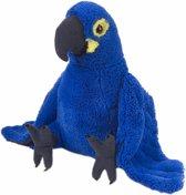 Blauw/paarse papegaai knuffels