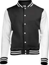 AWDis Varsity jacket, Jet Black/White, Maat M