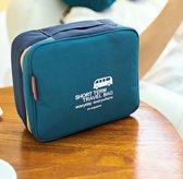 Reis Toilettas - Cosmetica tas - Make-up organizer - Marine blauw | m square