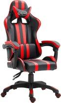 vidaXL Gamingstoel PU rood