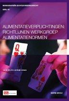 Monografieen (echt)scheidingsrecht 4C - Alimentatieverplichtingen richtlijnen werkgroep alimentatienormen 2013-2
